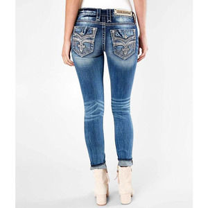 NEW ROCK REVIVAL LOW-RISE STRETCH SKINNY JEANS